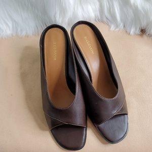 Liz Claiborne leather  mules 10